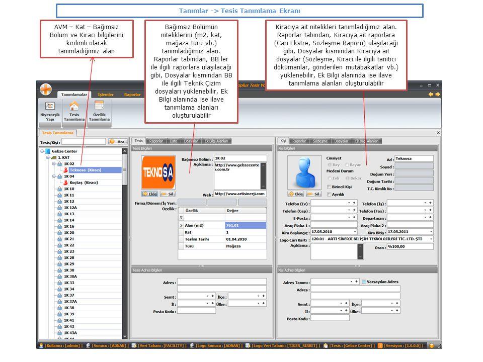 Tanımlar -> Tesis Tanımlama Ekranı –> Kat Planı Kat Tanımın üzerinde iken çıkan Kat Planı tabından aşağıdaki ekran görüntüsüne ulaşılır Kat Planı ekranında, ilgili katın mimari çizimine ulaşılır ve renk değiştiren noktalar ile BB lerin dolulukları gözlemlenebilir.