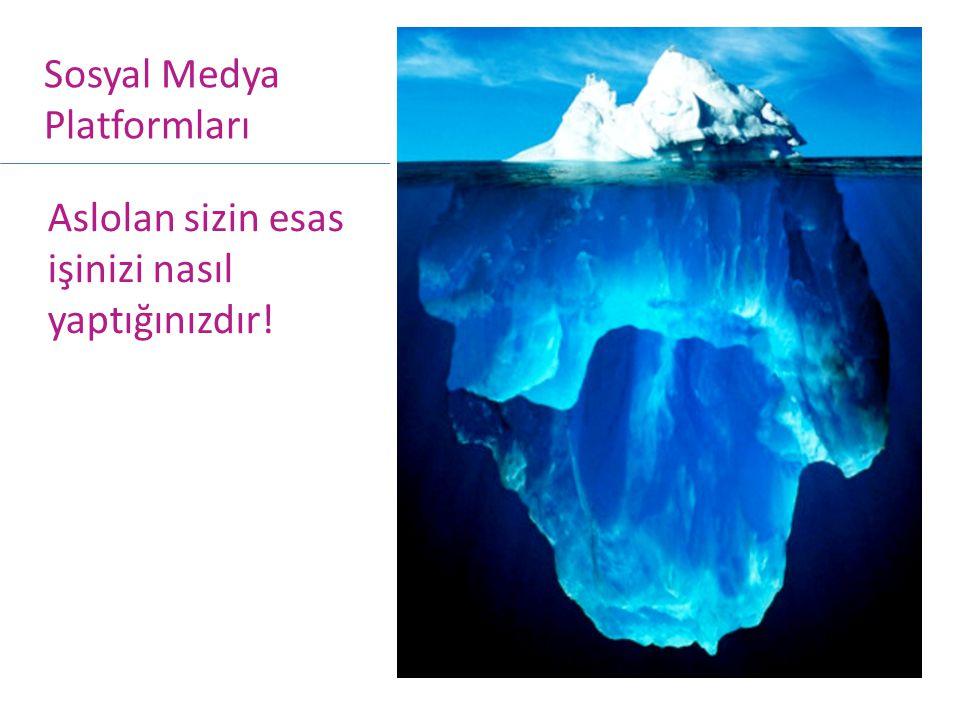 Aslolan sizin esas işinizi nasıl yaptığınızdır! Sosyal Medya Platformları