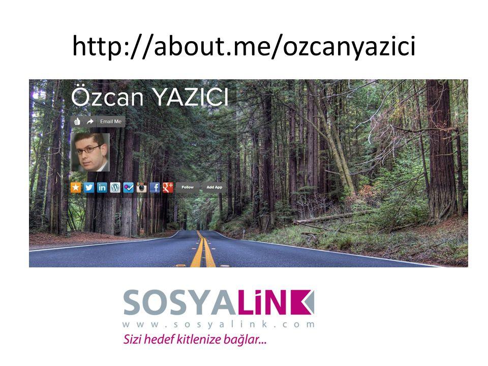 http://about.me/ozcanyazici