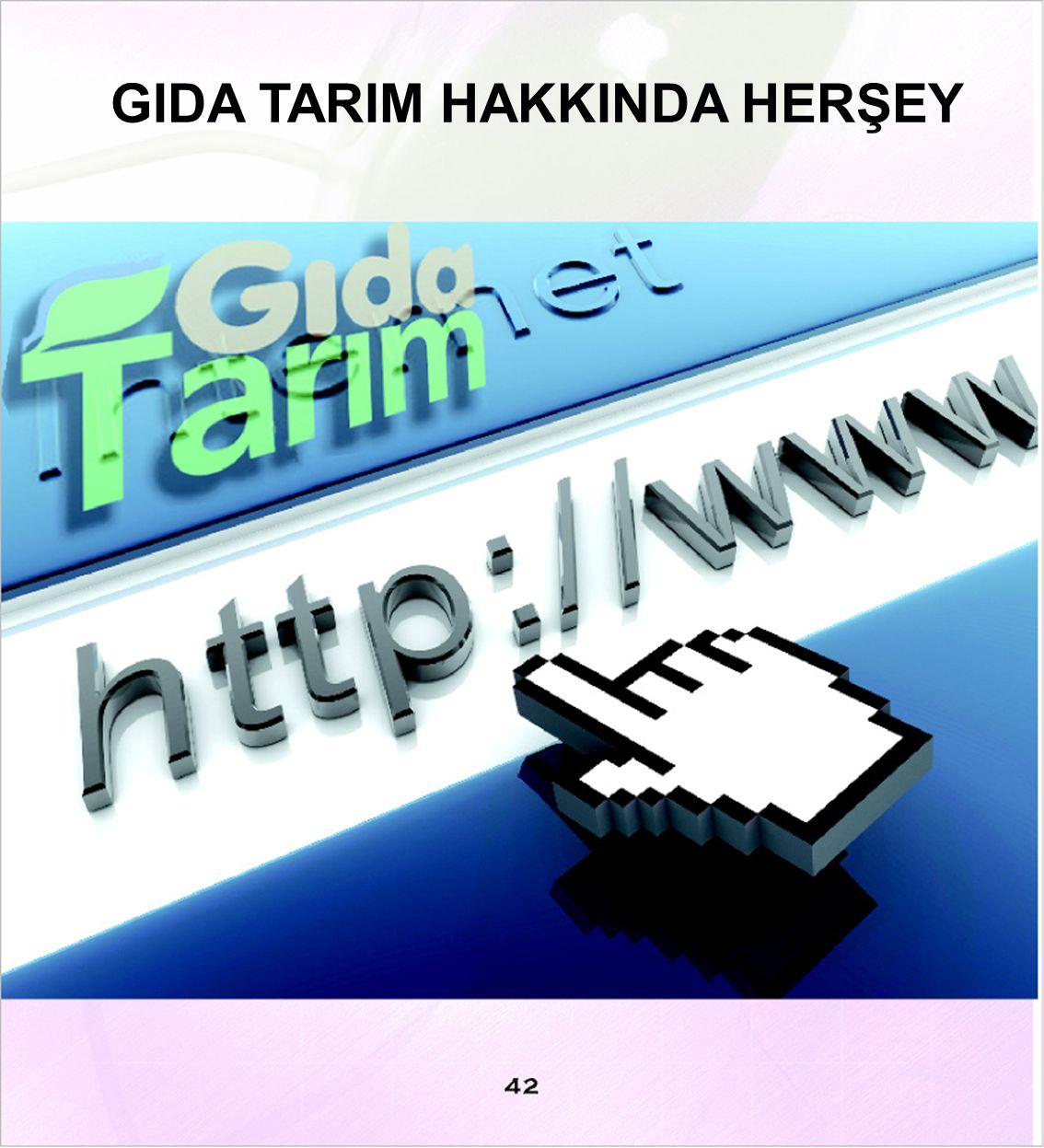 GIDA TARIM HAKKINDA HERŞEY