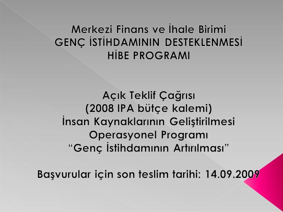 Projeler hakkında ayrıntılı bilgi için: IPM Proje Danışmanlık Ahmet Horozoğlu Adres : G.M.K.