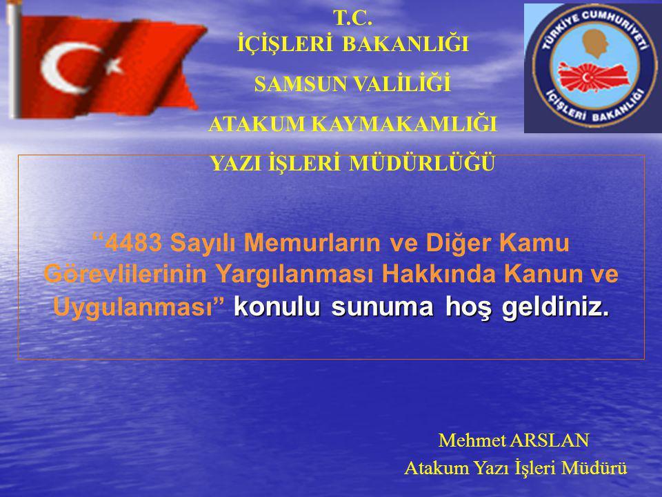 MEMUR VE KAMU GÖREVLİSİ 5237 Sayılı TCK.