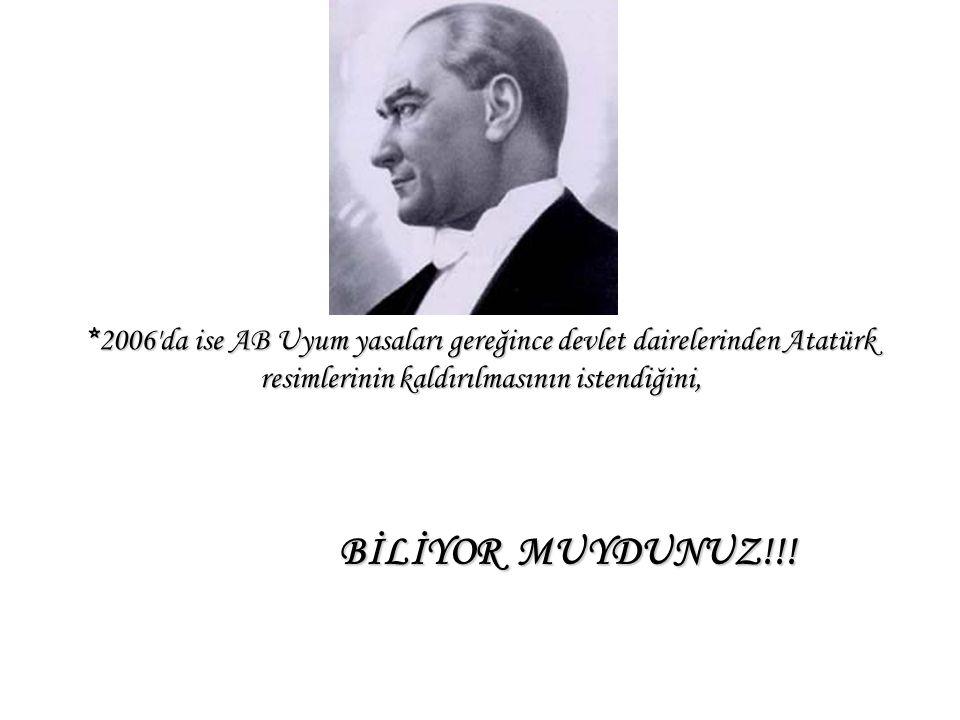 *2000'de ABD Başkanı'nın milenyum mesajında; '' Milenyumun hiç şüphe yoktur ki tek devlet adamı Mustafa Kemal Atatürk'tür. Çünkü o yılın değil asrın l