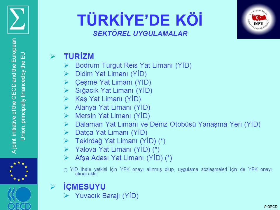 © OECD A joint initiative of the OECD and the European Union, principally financed by the EU  TURİZM  Bodrum Turgut Reis Yat Limanı (YİD)  Didim Ya