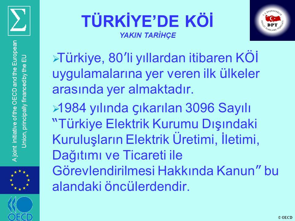 © OECD A joint initiative of the OECD and the European Union, principally financed by the EU  ULAŞTIRMA  Gebze-Orhangazi-İzmir Otoyolu (İzmit Körfez Geçişi Dahil)(377 km) (*)  Kınalı-Malkara-Çanakkale-Savaştepe Otoyolu (Çanakkale Boğaz Geçişi Köprüsü Dahil) (566 km)  Ankara-İzmir Otoyolu (503 km)  (Ankara-İzmir)Ayr.-Afyon-Burdur-Antalya Otoyolu (345 km)  (Ankara-İzmir)Ayr.-Eskişehir-Bursa Otoyolu (202 km) (*) YİD ihale yetkisi için YPK onayı alınmış olup, uygulama sözleşmeleri için de YPK onayı alınacaktır.