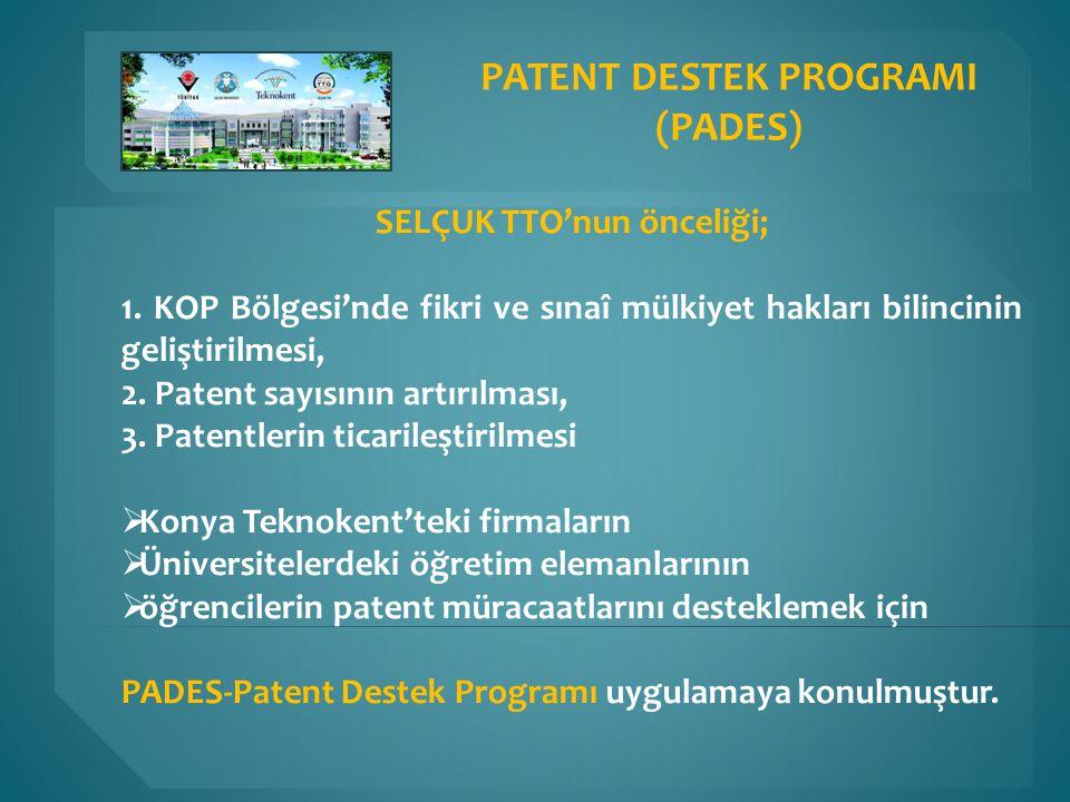 SELÇUK TTO'nun önceliği; 1. KOP Bölgesi'nde fikri ve sınaî mülkiyet hakları bilincinin geliştirilmesi, 2. Patent sayısının artırılması, 3. Patentlerin