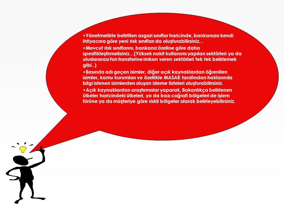 Öncelik Sıralaması-Derecelendirme • Müşterinin faaliyet gösterdiği iş kolu riskli müşteri grubunda ise müşteri 50 puan almaktadır.