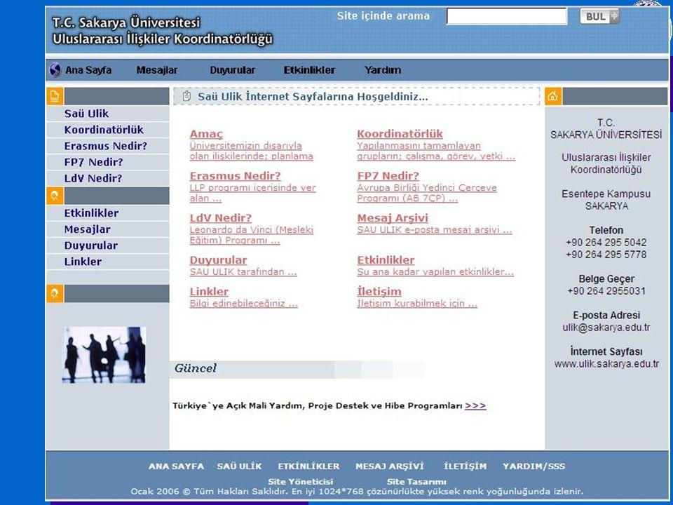 SAÜ-ULİKMETAG-I Sakarya Üni. 15/04/2009 SAÜ-ULİK www.ulik.sakarya.edu.tr