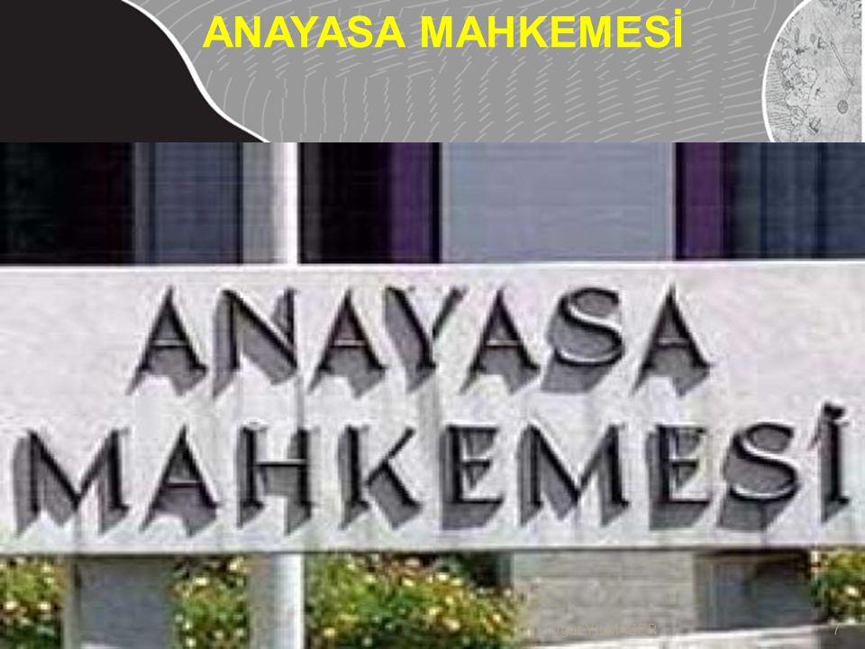1.Kuruluşu Anayasa Mahkemesi on bir asıl ve dört yedek üyeden kurulur.