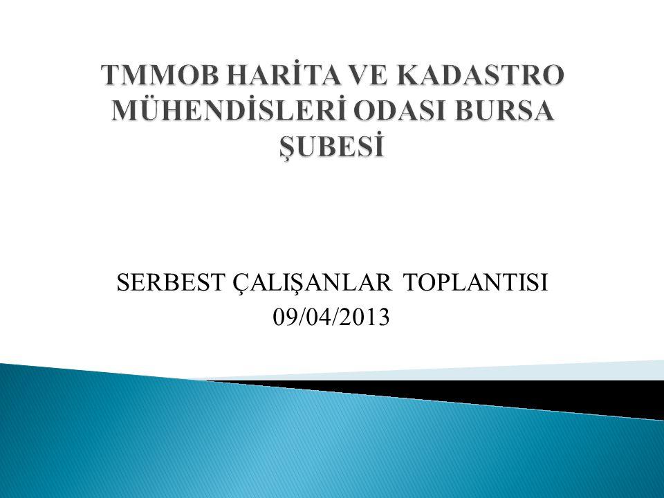 SERBEST ÇALIŞANLAR TOPLANTISI 09/04/2013
