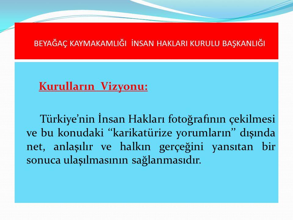 Kurulların Vizyonu: Türkiye'nin İnsan Hakları fotoğrafının çekilmesi ve bu konudaki ''karikatürize yorumların'' dışında net, anlaşılır ve halkın gerçe