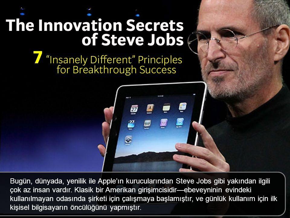 Bugün, dünyada, yenilik ile Apple'ın kurucularından Steve Jobs gibi yakından ilgili çok az insan vardır.