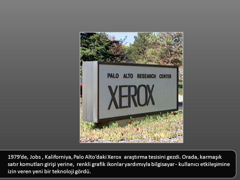 1979'de, Jobs, Kaliforniya, Palo Alto'daki Xerox araştırma tesisini gezdi.