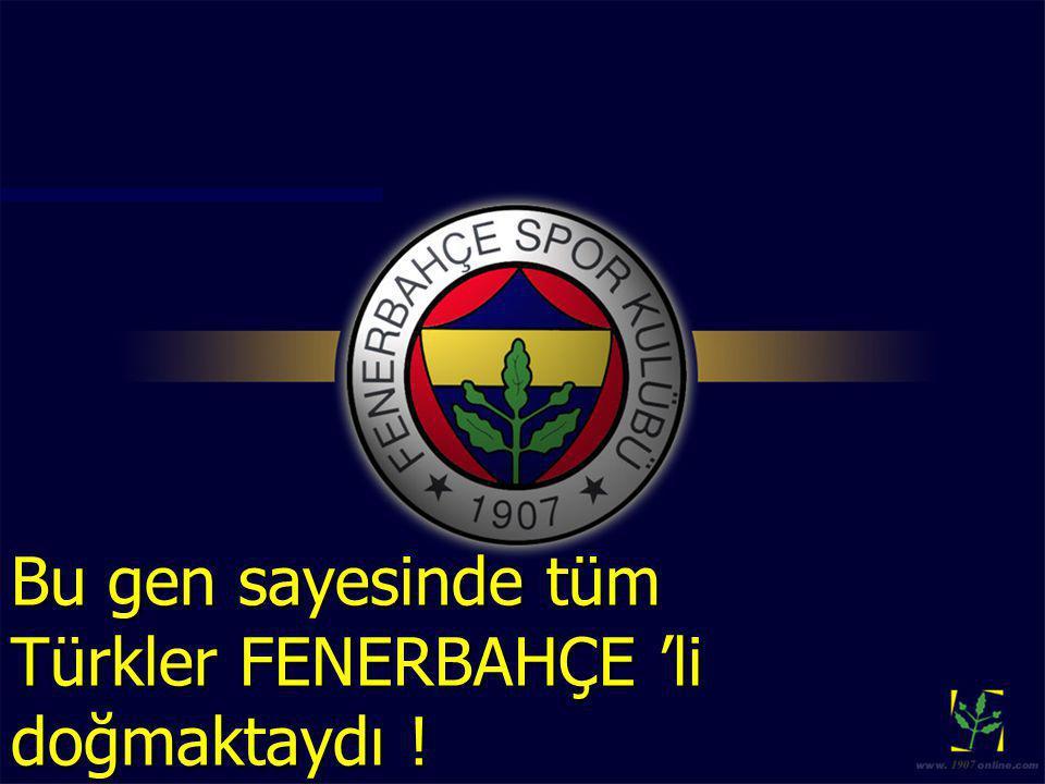 Bu gen sayesinde tüm Türkler FENERBAHÇE 'li doğmaktaydı !