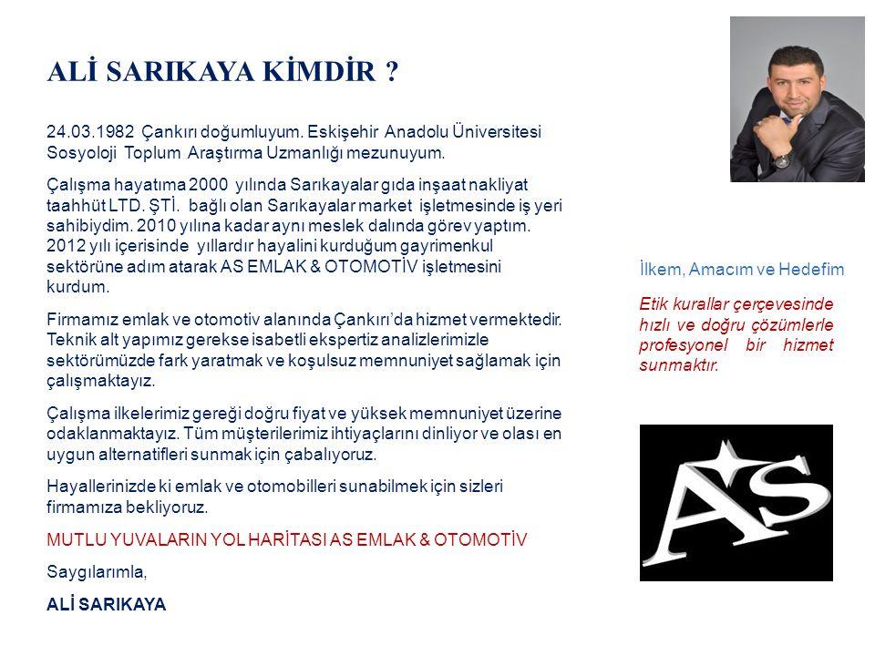ALİ SARIKAYA KİMDİR ? 24.03.1982 Çankırı doğumluyum. Eskişehir Anadolu Üniversitesi Sosyoloji Toplum Araştırma Uzmanlığı mezunuyum. Çalışma hayatıma 2