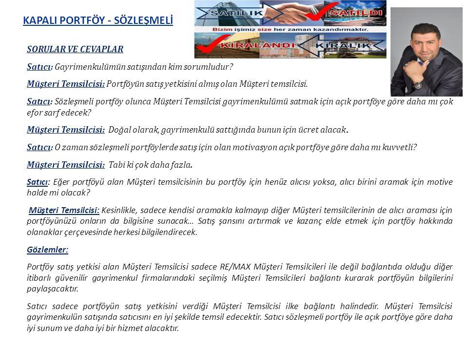 Kapalı Portföy - Sözleşmeli Kapalı Portföyde, AS Gayrimenkul Danışmanı, yetkilendirildiği için, gayrimenkulünüzün satışını sahiplenir.