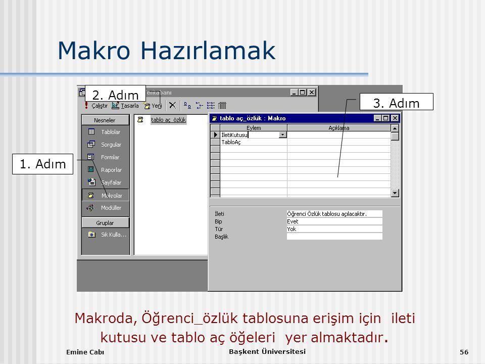 Emine Cabı Başkent Üniversitesi 56 Makro Hazırlamak 1.