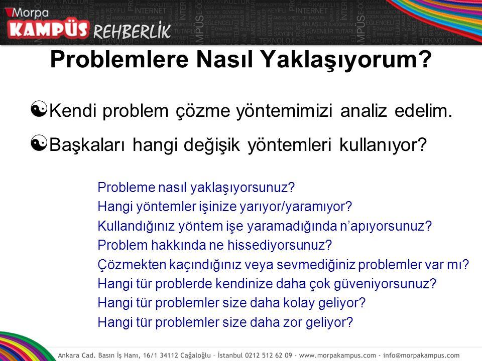 Problemlere Nasıl Yaklaşıyorum. Kendi problem çözme yöntemimizi analiz edelim.