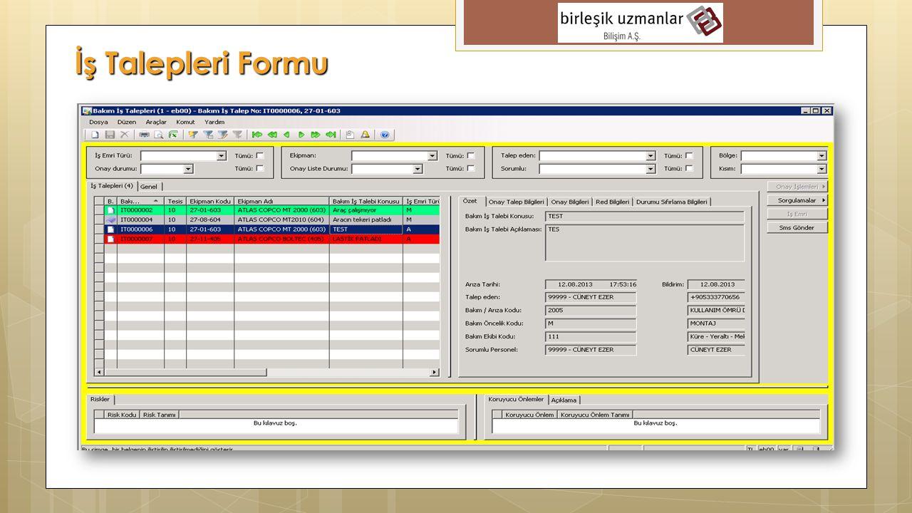 İş Talepleri Formu