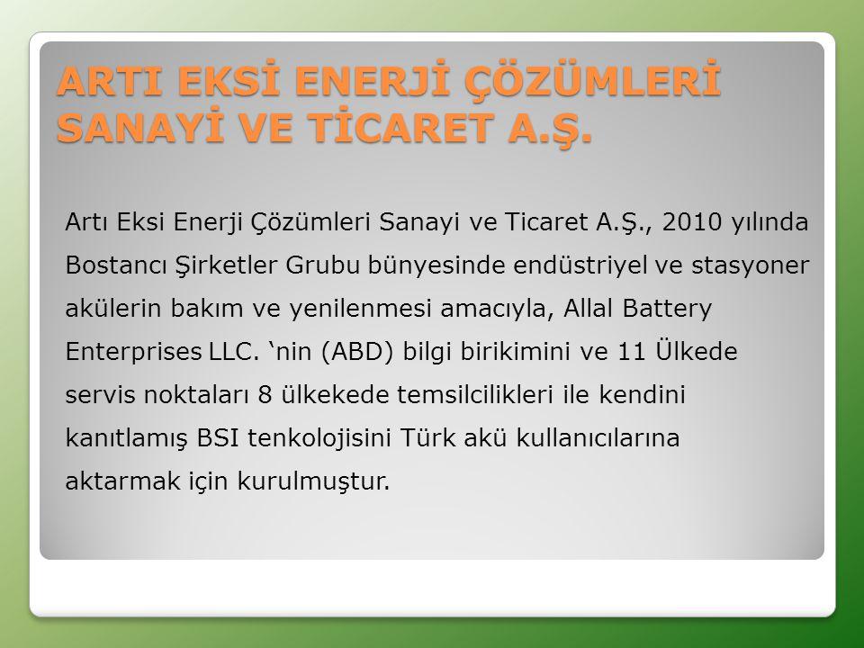 ARTI EKSİ ENERJİ ÇÖZÜMLERİ SANAYİ VE TİCARET A.Ş.
