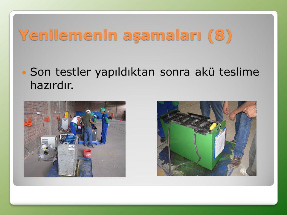  Son testler yapıldıktan sonra akü teslime hazırdır. Yenilemenin aşamaları (8)