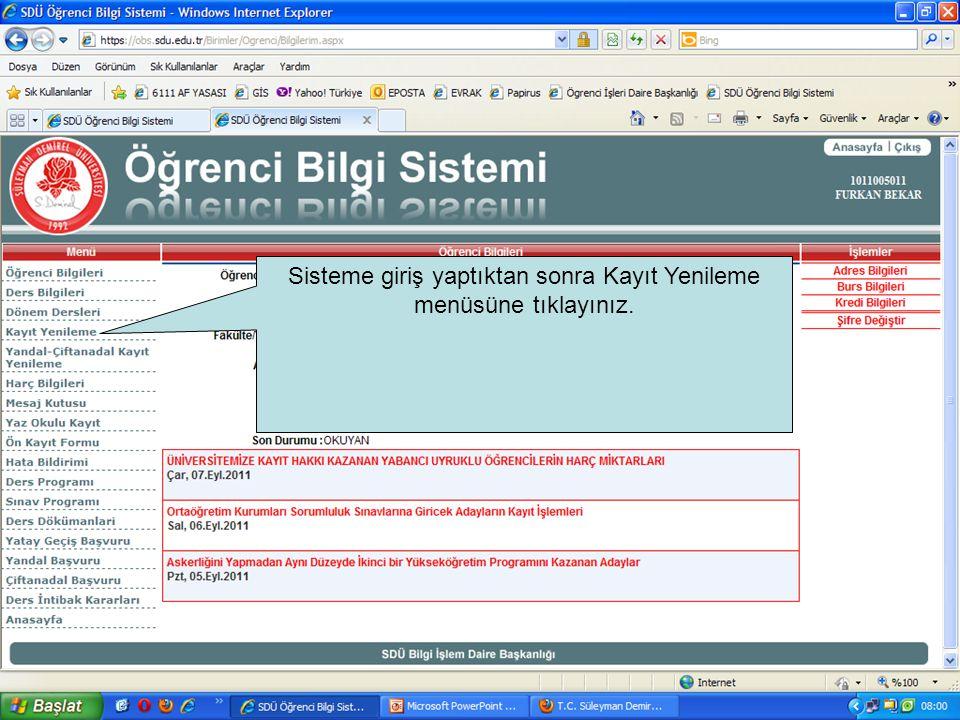 •Çift anadal ve yandal ders seçim işlemleri 19-23 Eylül 2011 tarihleri arasında yapılacaktır.
