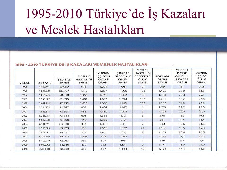 1995-2010 Türkiye'de İş Kazaları ve Meslek Hastalıkları hakancubukcu66@gmail.com3