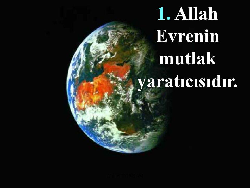 Ahmet YORDAM Kur'an'ın Yaratılış Konusunda Vurguladığı Noktalar: