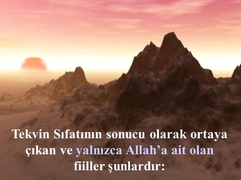Ahmet YORDAM Allah'ın Yaratma Sıfatı Tekvin'dir