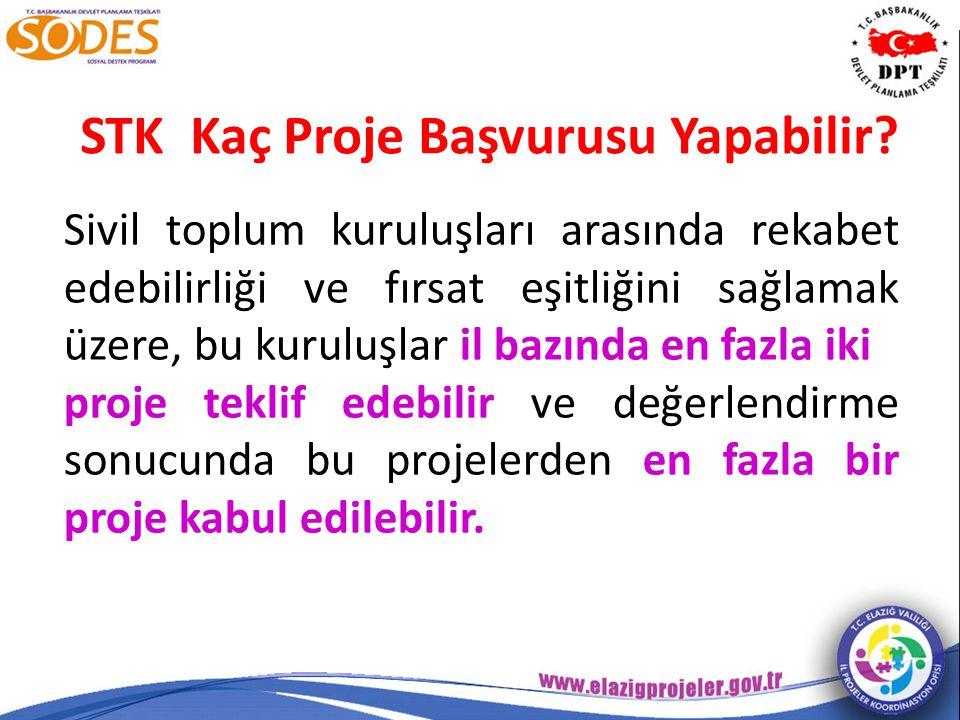 STK Kaç Proje Başvurusu Yapabilir.