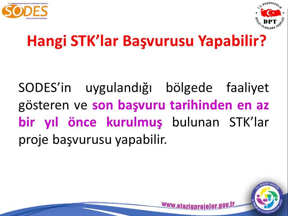 Hangi STK'lar Başvurusu Yapabilir.