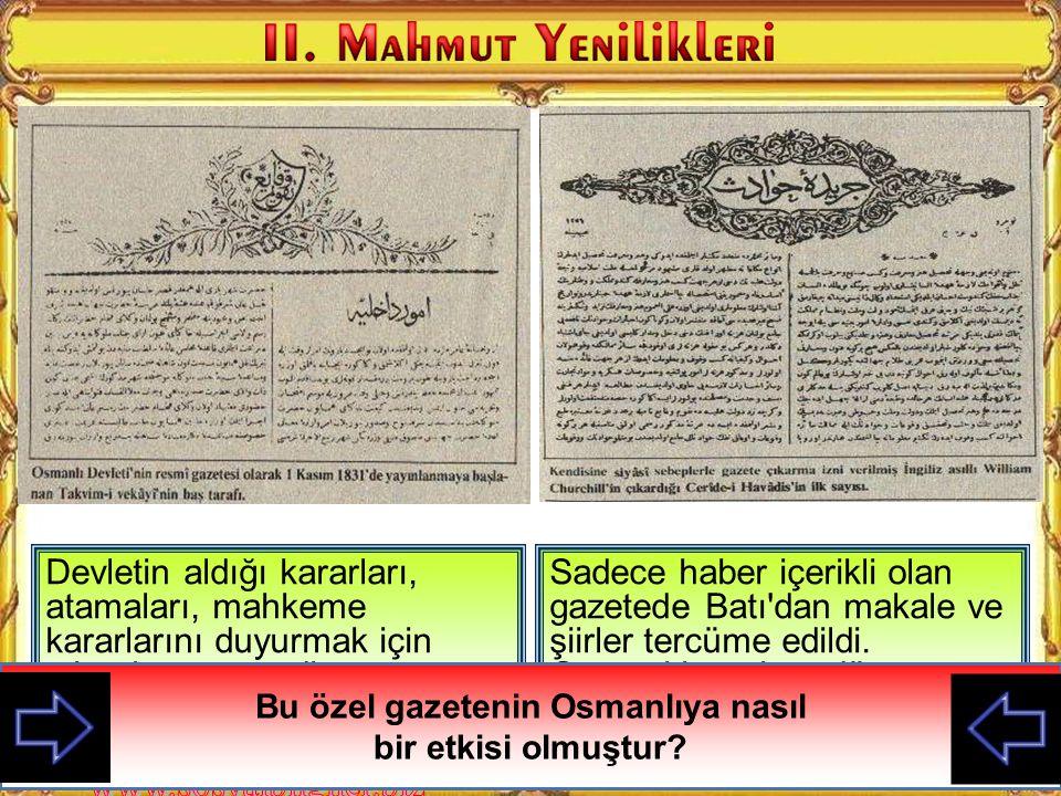 Kabakçı Mustafa İsyanı ile Nizam-ı Cedit yenilikleri kaldırılarak III. Selim öldürülünce ben padişah oldum. Yapılan yeniliklere karşı gelen yeniçerile