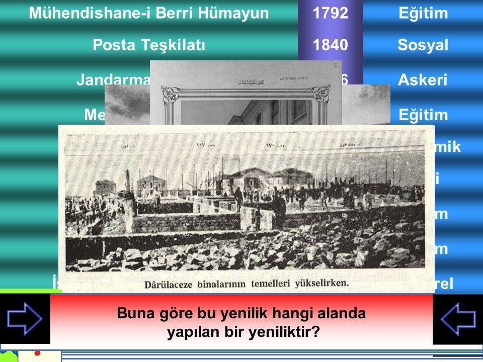 Mekteb-i Mülkiye Jandarma Teşkilatı Posta Teşkilatı Mühendishane-i Berri Hümayun Darüşşafaka Galatasaray Lisesi Danıştay Ziraat Bankası Eğitim1856 Askeri1846 Sosyal1840 Eğitim1792 Eğitim1873 Eğitim1868 İdari1868 Ekonomik1863 İstanbul Arkeoloji MüzesiKültürel1887 DarülacezeSosyal1897 III.