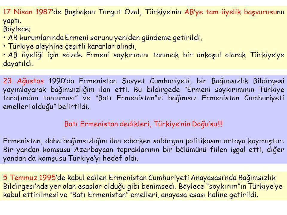 """5 Temmuz 1995'de kabul edilen Ermenistan Cumhuriyeti Anayasası'nda Bağımsızlık Bildirgesi'nde yer alan esaslar olduğu gibi benimsedi. Böylece """"soykırı"""