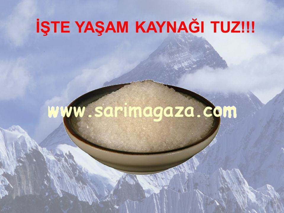 Hz.Muhammed Ya Ali yemekten önce ve yemekten sonra bir miktar tuz seni 70 tür Hastalığa karşı korur boşuna dememiştir.