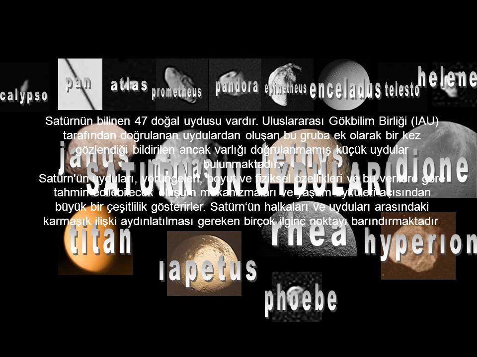 Satürnün bilinen 47 doğal uydusu vardır.
