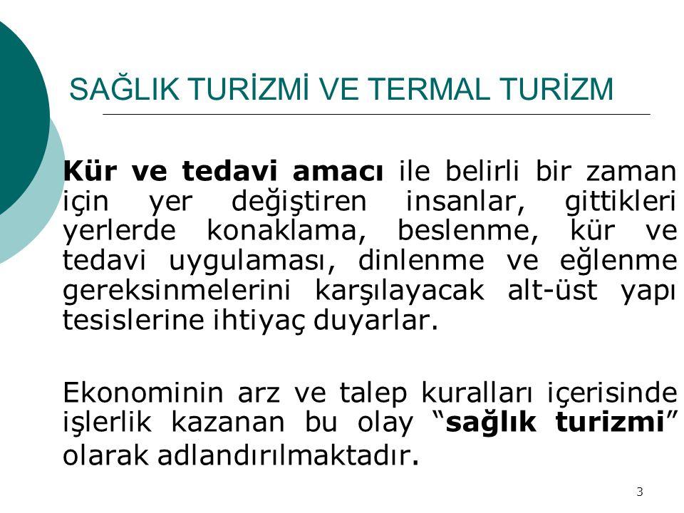24  20-21 Aralık 2005 Haymana'da, Üniversiteler, ilgili kamu kurumları ve sektörlerin katılımıyla yapılan toplantıda sonuç bildirgesinde alınan kararlar doğrultusunda Kaplıcalar Yönetmeliği Revizyonu ön çalışması  4-6 Nisan 2006-Afyon Kaplıca sektörüne yönelik Kaplıca Tıbbı ve Kaplıca Uygulamaları semineri (Sağlık Bakanlığı-İstanbul Üniversitesi İstanbul Tıp Fakültesi işbirliğinde)  24-25 Nisan 2007 tarihinde Afyonkarahisar İlinde Kaplıca sektör temsilcileri ile Yönetmelikte revizyon çalışmaları SAĞLIK TURİZMİ VE TERMAL TURİZM