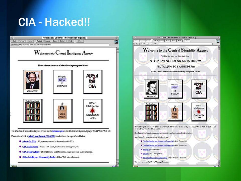 CIA - Hacked!!