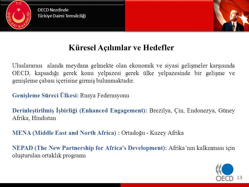 OECD Nezdinde Türkiye Daimi Temsilciliği 13 Küresel Açılımlar ve Hedefler Uluslararası alanda meydana gelmekte olan ekonomik ve siyasi gelişmeler karş