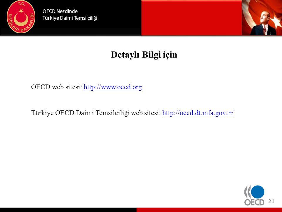 Detaylı Bilgi için OECD Nezdinde Türkiye Daimi Temsilciliği OECD web sitesi: http://www.oecd.orghttp://www.oecd.org Türkiye OECD Daimi Temsilciliği we