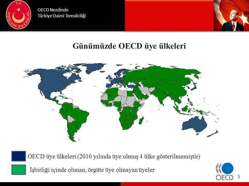 Günümüzde OECD üye ülkeleri OECD Nezdinde Türkiye Daimi Temsilciliği 5 OECD üye ülkeleri (2010 yılında üye olmuş 4 ülke gösterilmemiştir) İşbirliği iç