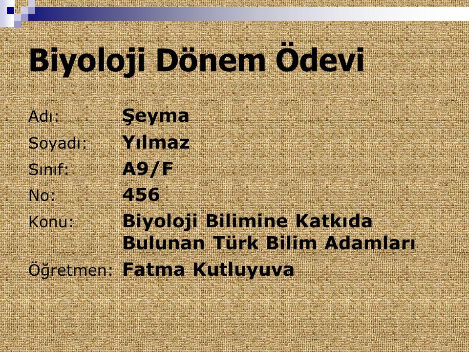  1923 te İzmir de doğan Prof.Dr.