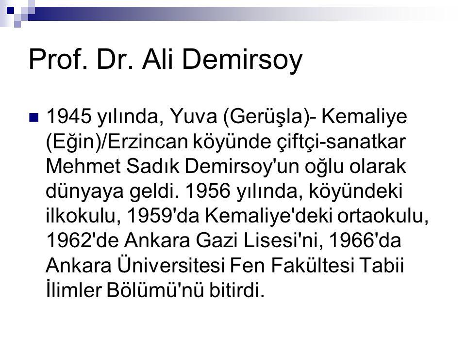  1945 yılında, Yuva (Gerüşla)- Kemaliye (Eğin)/Erzincan köyünde çiftçi-sanatkar Mehmet Sadık Demirsoy un oğlu olarak dünyaya geldi.