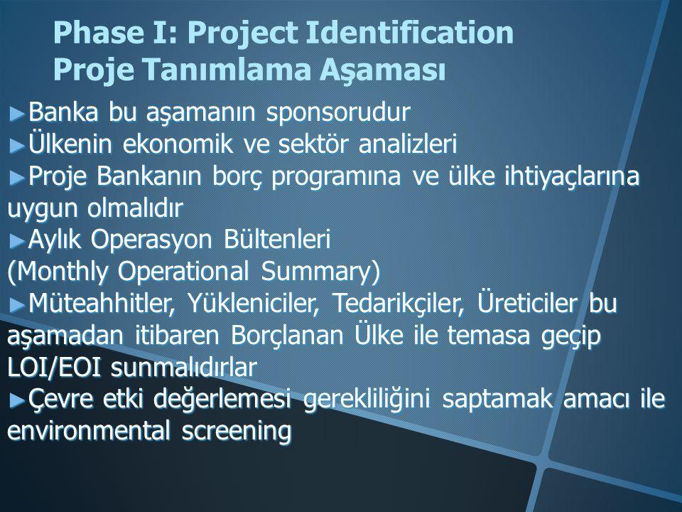 EU Fonları-Proje Döngüsü Phase I : Project Programming Proje Programlama Phase II : Project Identification Proje Tanımlama Phase III: Project Appraisal Proje Öndeğerleme Phase IV : Project Financing Proje Finansman Phase V : Project Implementation Proje Uygulama Phase VI : Project Evaluation Proje Değerlendirme