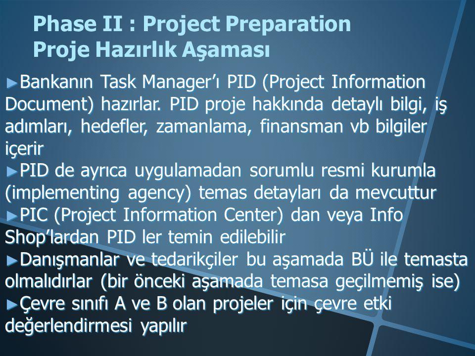 Phase III: Project Appraisal Proje Değerleme Aşaması