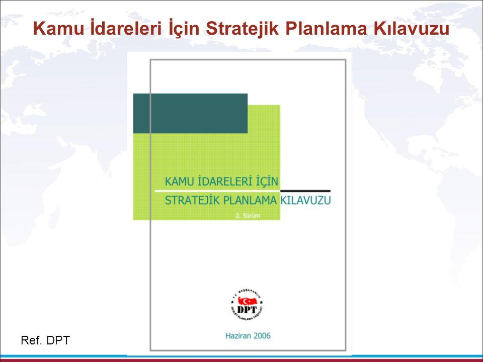 Kamu İdareleri İçin Stratejik Planlama Kılavuzu Ref. DPT
