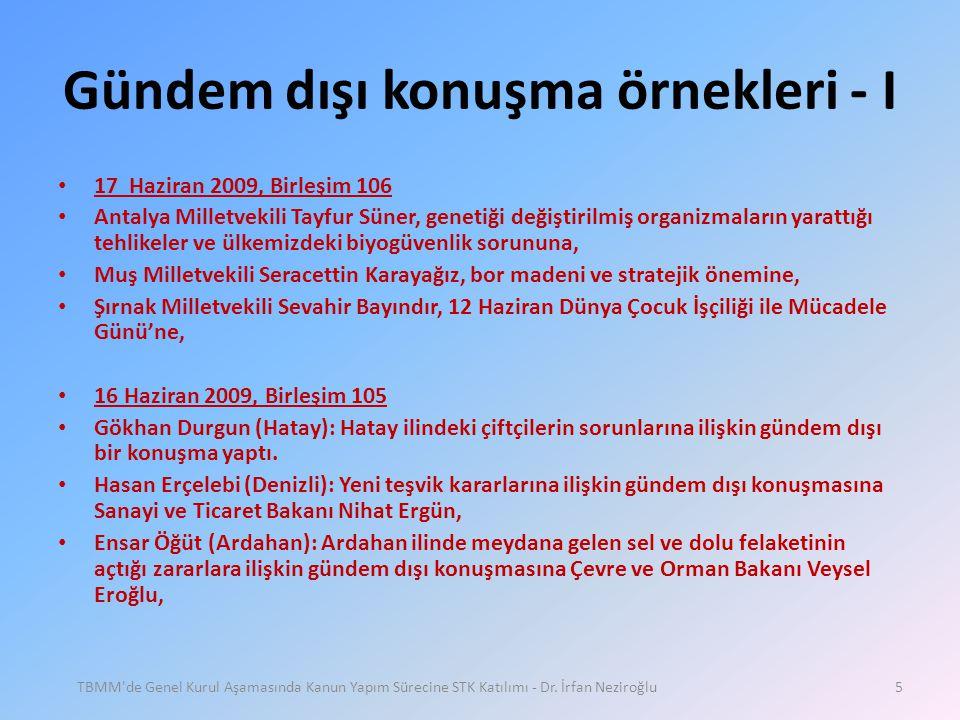 Gündem dışı konuşma örnekleri - I • 17 Haziran 2009, Birleşim 106 • Antalya Milletvekili Tayfur Süner, genetiği değiştirilmiş organizmaların yarattığı