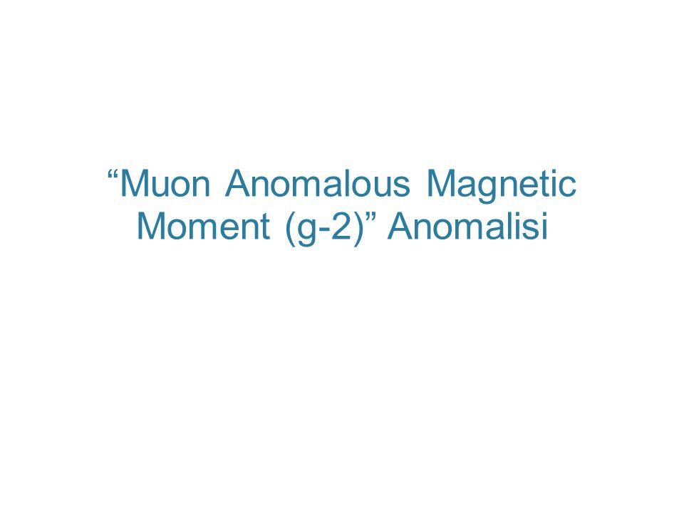 Muon g-2 Anomalisi  Müon g−2, en hassas ölçülebilmiş (ppm mertebesinde) ve kuramsal olarak en detaylı çalışılmış olan fiziksel niceliklerden biri.