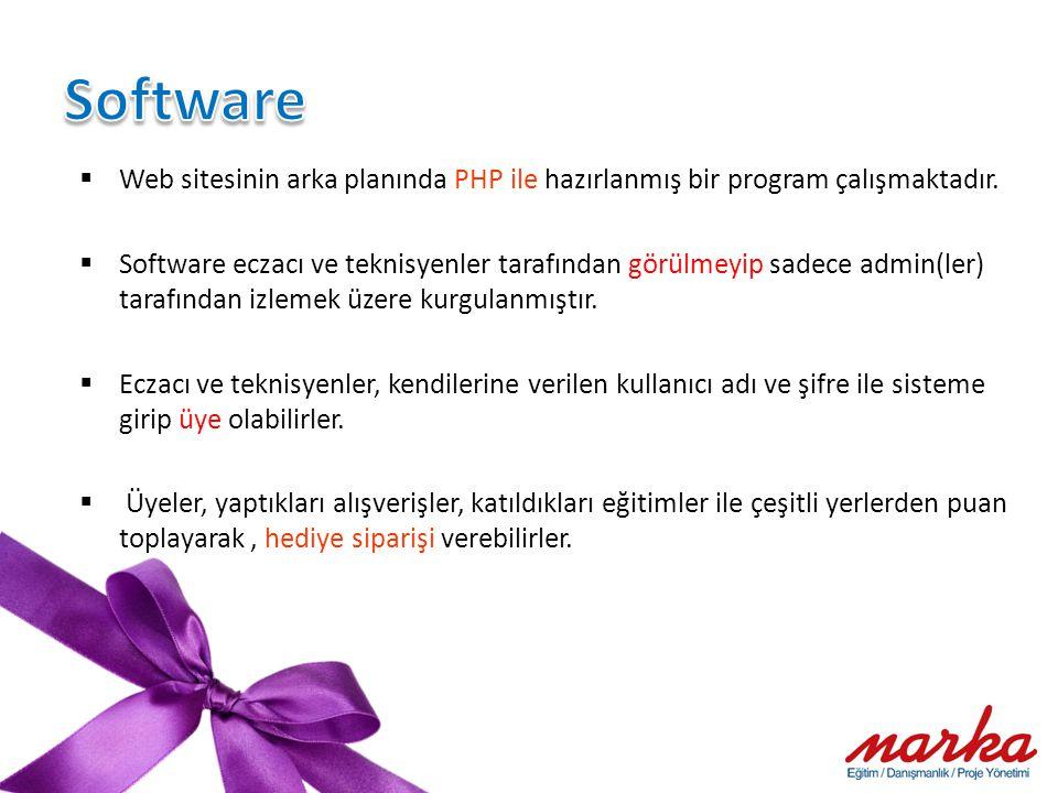  Web sitesinin arka planında PHP ile hazırlanmış bir program çalışmaktadır.