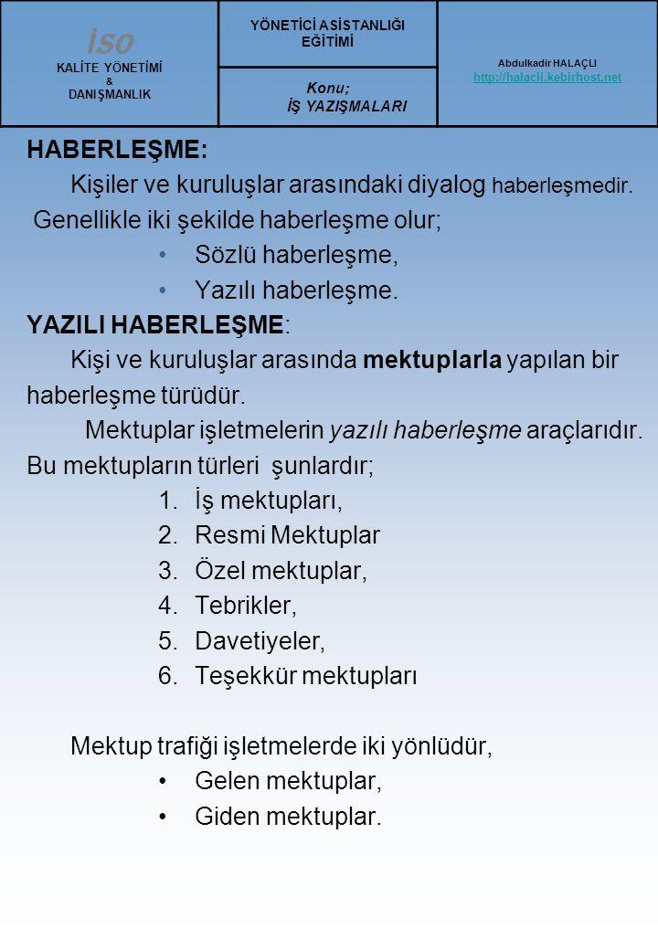 Ortalama Türk Mektup Örneği 3 ( İki sayfalı mektup) GÖZE SEYAHAT VE TURİZM A.Ş Söğütlüçeşme cad.
